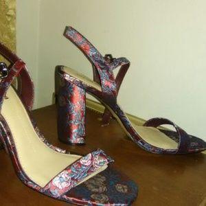 Gianni Bini Mckaria Floral Print Dress Sandals